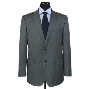 Saks Fifth Avenue Zegna Wool Silk Suit Gray 42R